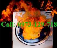 sửa lỗi máy giặt có mùi cháy khét