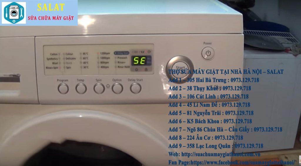 Hướng dẫn sử máy giặt Samsung báo lỗi 5E – Bơn xả nước bị lỗi