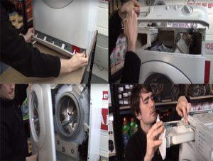 Tháo các tấm ốp của máy giặt nội địa nhật