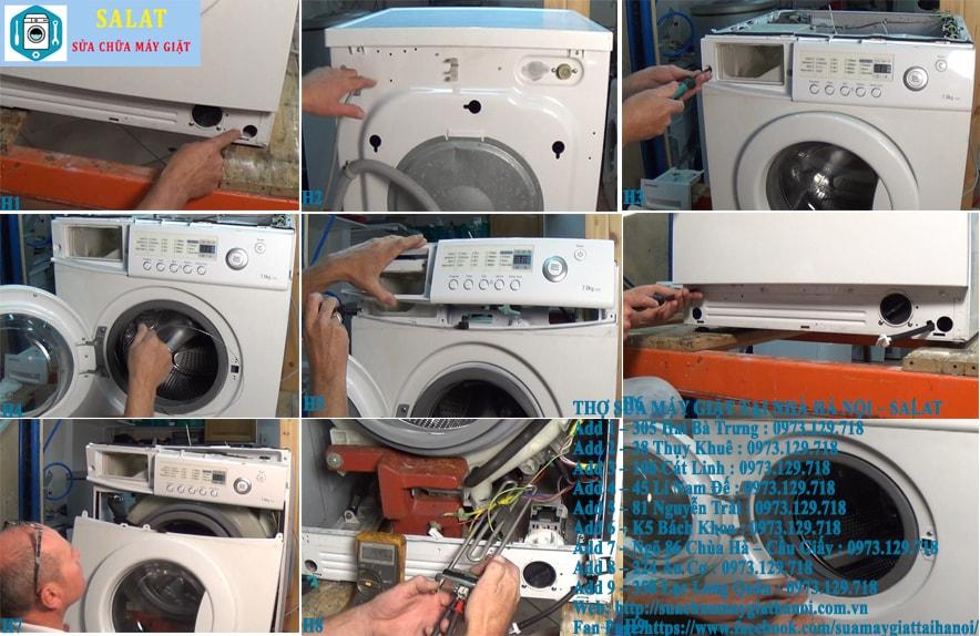 Cách khắc phục và sửa máy giặt báo lỗi TE hoặc HE lỗi cảm biến nhiệt