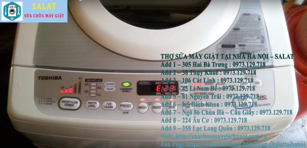 Cách sửa lỗi máy giặt Toshiba báo lỗi E23