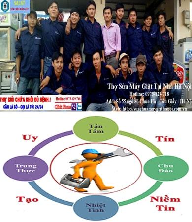 Đội ngũ thợ sửa máy giặt SALAT