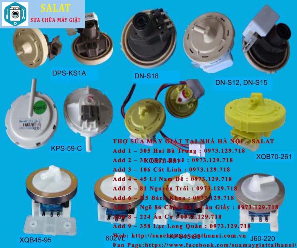 công tắc áp lực nước của máy giặt
