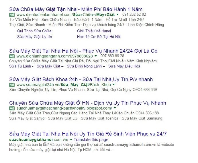 dich-sua-may-giat-lua-dao: Quảng cáo dịch vụ sửa máy giặt lừa đảo