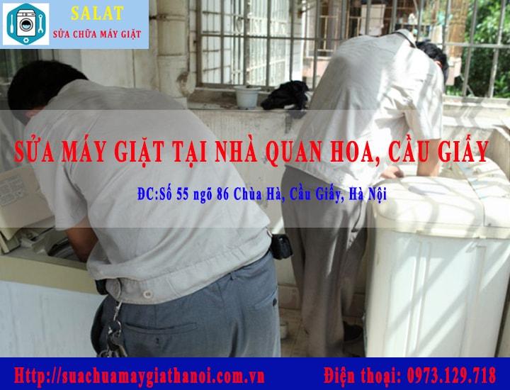 sua-may-giat-tai-nha-quan-hoa: Ảnh Thợ kỹ thuật đang sửa máy giặt tại nhà Quan Hoa