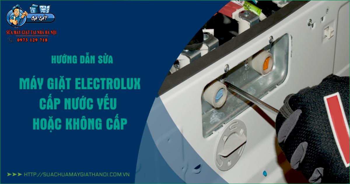 Máy giặt Electrolux cấp nước yếu