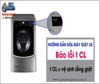 Máy giặt LG báo lỗi tCL – Hướng dẫn nhận biết và khắc phục