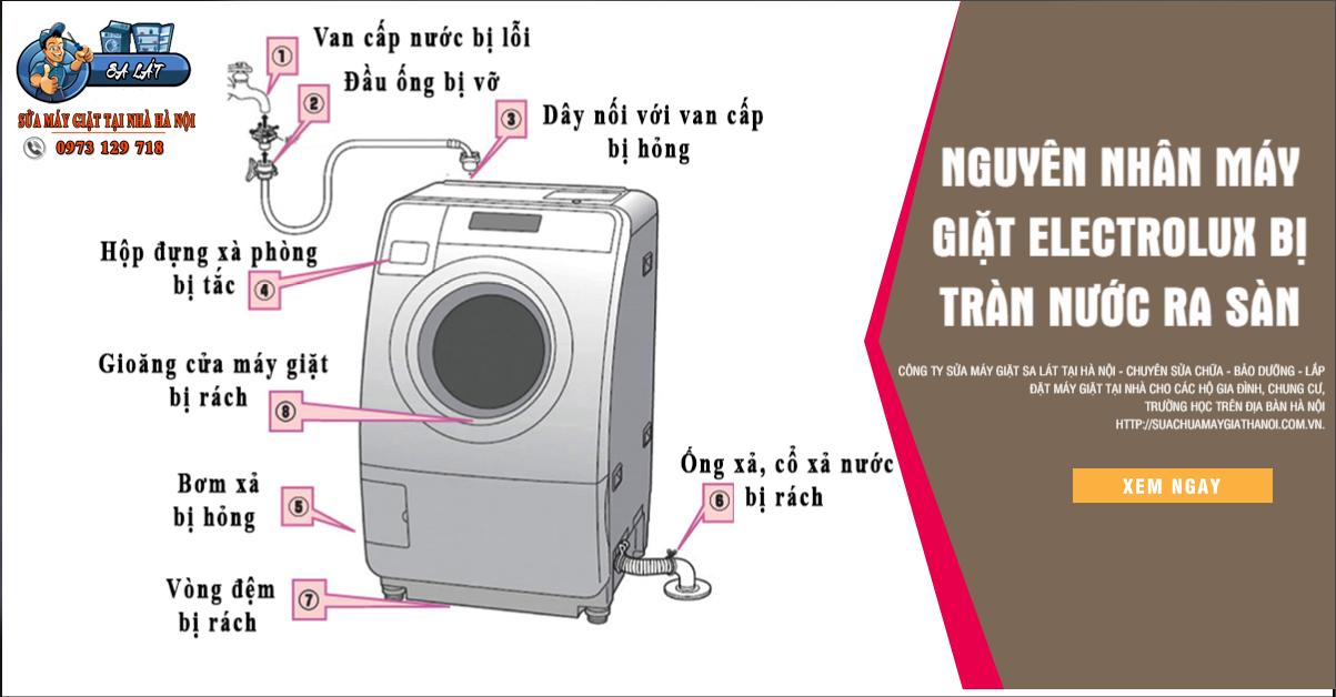 Hướng dẫn chuẩn đoán và khắc phục lỗi máy giặt Electrolux rò nước ra sàn