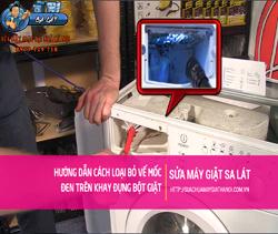 Cách loại bỏ vết mốc đen trên khay đựng bột giặt của máy giặt cửa ngang