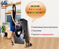 Làm cách nào mở được cửa máy giặt khi máy giặt đang chạy?