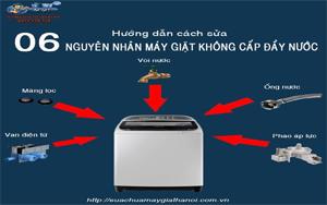 May Giat Khong Cap Nuoc Day Nong Giat