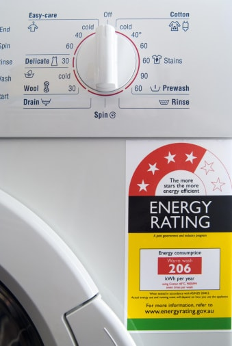 Máy giặt được gắn nhãn tiết kiệm năng lượng