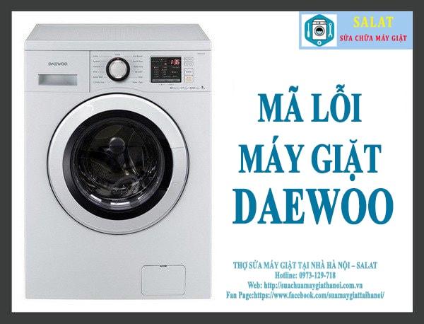 sửa mã lỗi máy giặt Deawwo