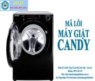 Hướng Dẫn Sửa Mã Lỗi Máy Giặt Candy 0973129718