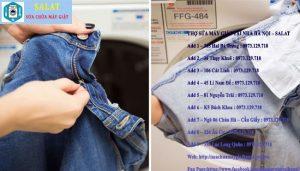 Lộn trái tất cả quần jean ra trước khi mang đi giặt.
