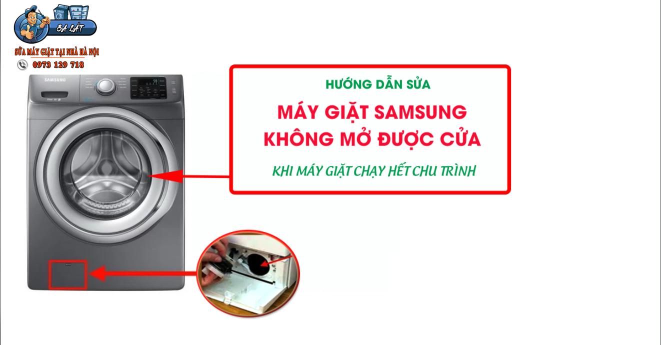 Máy giặt Samsung không mở được cửa khi đã giặt xong