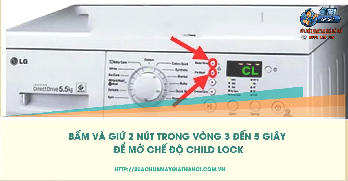 Cách xóa lỗi CL của máy giặt LG đời cũ