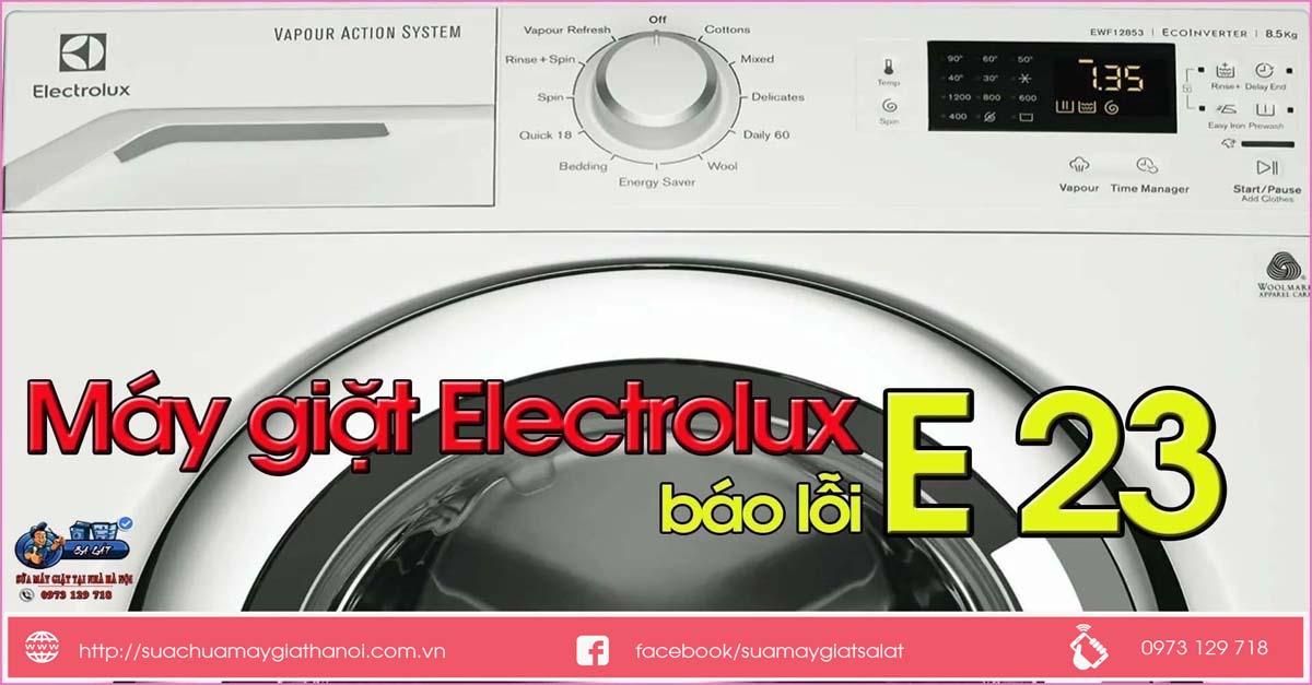 Máy giặt electrolux báo lỗi e23